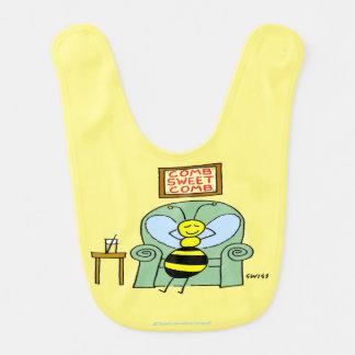 Niedlicher Cartoon-Bienen-und Babylätzchen