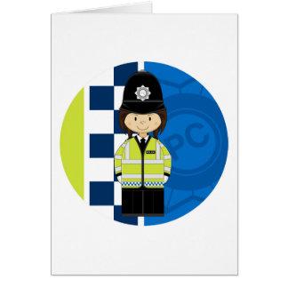 Niedlicher Cartoon-Briten-Polizist Karte