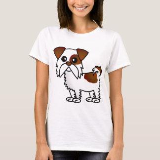 Niedlicher Cartoon Brown Shih Tzu und Weiß T-Shirt
