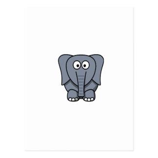 Niedlicher Cartoon-Elefant Clipart Postkarte