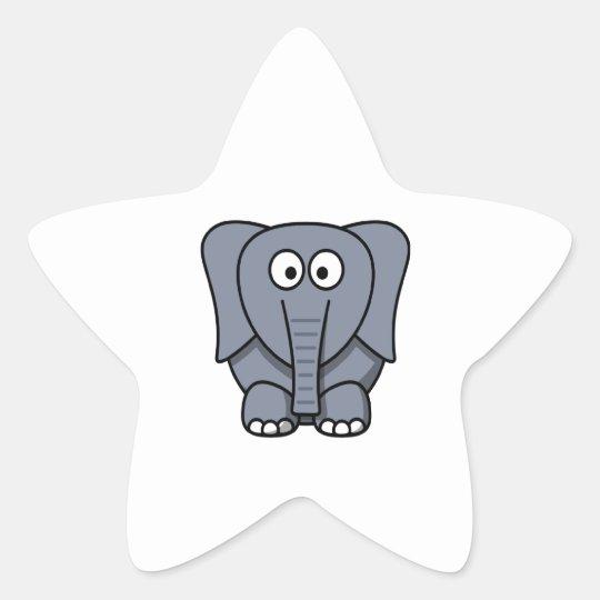 Niedlicher Cartoon Elefant Clipart Stern Aufkleber
