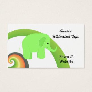 Niedlicher Cartoon-Elefant Visitenkarte