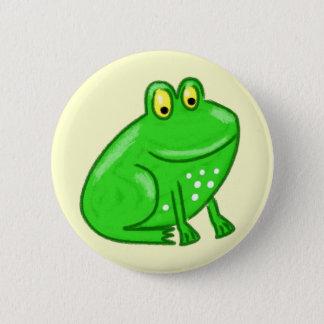 Niedlicher Cartoon-Frosch Runder Button 5,1 Cm