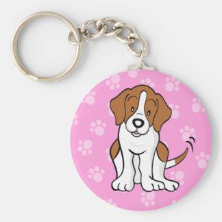 Niedlicher Cartoon-HundeBeagle Keychain Schlüsselanhänger