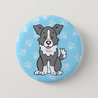 Niedlicher Cartoon-Hundegrenzcollie-Knopf Runder Button 5,7 Cm