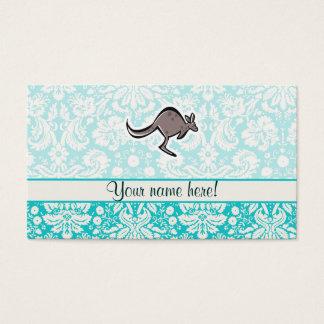 Niedlicher Cartoon-Känguru Visitenkarte