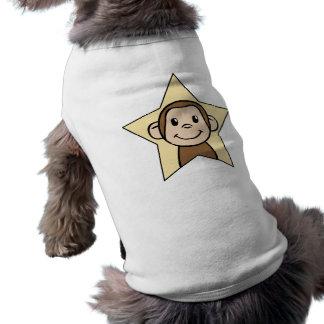 Niedlicher Cartoon-Klipp-Kunst-Affe mit Shirt