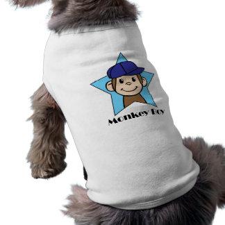 Niedlicher Cartoon-Klipp-Kunst-glücklicher Affe T-Shirt