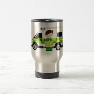 Niedlicher Cartoon-Krankenwagen und EMT Reisebecher