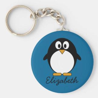 niedlicher Cartoon Penguin-Blauhintergrund Schlüsselband