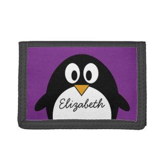 niedlicher Cartoon Penguin lila