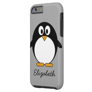 Niedlicher Cartoon Penguin mit grauem Hintergrund Tough iPhone 6 Hülle