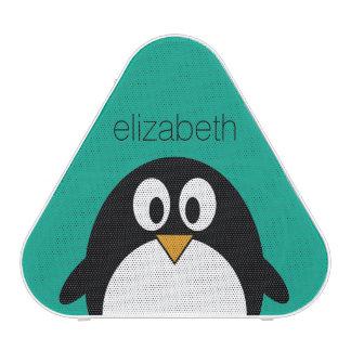 niedlicher Cartoon Penguinsmaragd und -SCHWARZES Bluetooth Lautsprecher