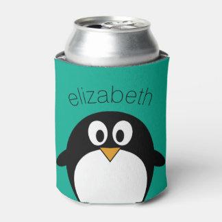 niedlicher Cartoon Penguinsmaragd und -SCHWARZES Dosenkühler