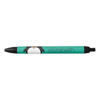 niedlicher Cartoon Penguinsmaragd und -SCHWARZES Kugelschreiber