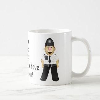 Niedlicher Cartoon-Polizist Kaffeetasse