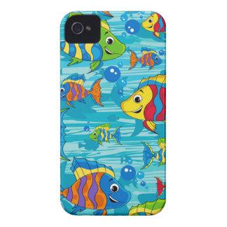 Niedlicher Cartoon-tropische Fische iPhone 4 Cover