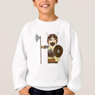 Niedlicher Cartoon-Wikinger-Krieger Sweatshirt