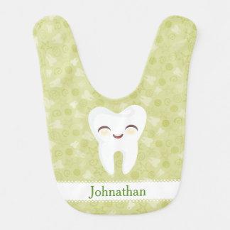 Niedlicher Cartoon-Zahn - kundenspezifischer Babylätzchen