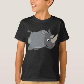 Niedlicher Cartoonaufladenrhino-KinderT - Shirt