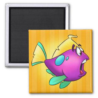 Niedlicher Cartoonfische Magnet Quadratischer Magnet