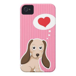Niedlicher Cartoonhund mit Herz girly Case-Mate iPhone 4 Hüllen