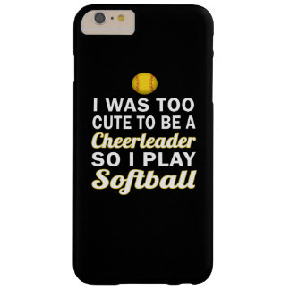 Niedlicher CheerleaderSoftball Barely There iPhone 6 Plus Hülle