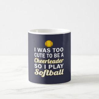 Niedlicher CheerleaderSoftball Kaffeetasse