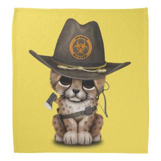Niedlicher Cheetah-CUB-Zombie-Jäger Kopftuch