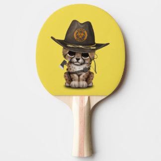 Niedlicher Cheetah-CUB-Zombie-Jäger Tischtennis Schläger