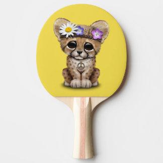 Niedlicher Cheetah-CUBHippie Tischtennis Schläger