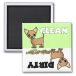 Niedlicher Chihuahua-sauberer/schmutziger Spülmasc Kühlschrankmagnete