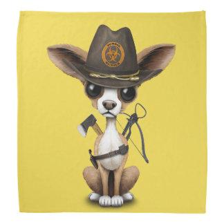 Niedlicher Chihuahua-Welpen-Zombie-Jäger Kopftuch