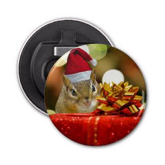 Niedlicher Chipmunk-frohe Weihnachten Flaschenöffner