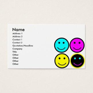 niedlicher cmyk Smileyentwurf Visitenkarte