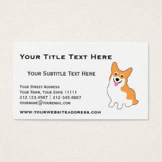 Niedlicher Corgi für Züchter, Hundetrainer, Visitenkarte