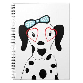Niedlicher dalmatinischer Hundelustige Spiral Notizblock