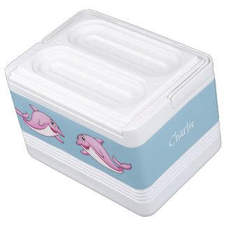 Niedlicher Delphin-individueller Name cooler Kühlbox