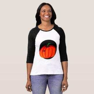 Niedlicher der Bella der Kürbis-Frauen Raglan-T - T-Shirt