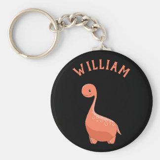 Niedlicher Dino addieren Ihr Schlüsselanhänger