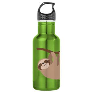 Niedlicher Drei-Toed Sloth Edelstahlflasche