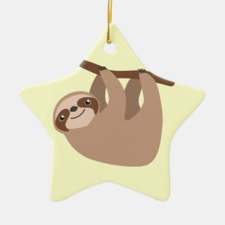 Niedlicher Drei-Toed Sloth Keramik Ornament
