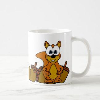 Niedlicher Eichhörnchen-Cartoon Kaffeetasse