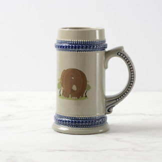 Niedlicher Elefant Bierglas