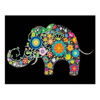 Niedlicher Elefant-Blumenmuster - kundengerecht! Postkarten