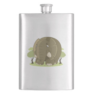 Niedlicher Elefant Flachmann