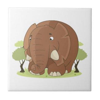 Niedlicher Elefant Fliese