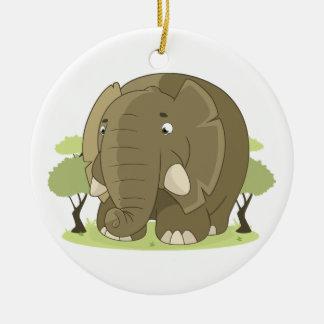 Niedlicher Elefant Keramik Ornament
