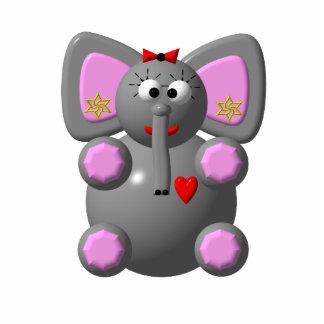 Niedlicher Elefant mit Ohrringen Freistehende Fotoskulptur