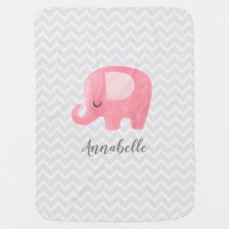 Niedlicher Elefant-personalisierte Puckdecke